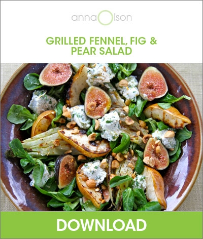 grilled fennel fig and pear salad